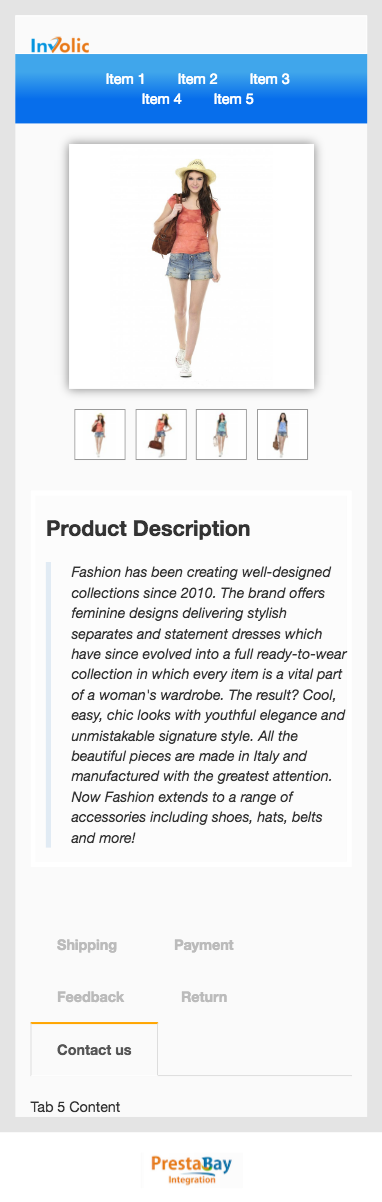 Ebay description template full width mobile view