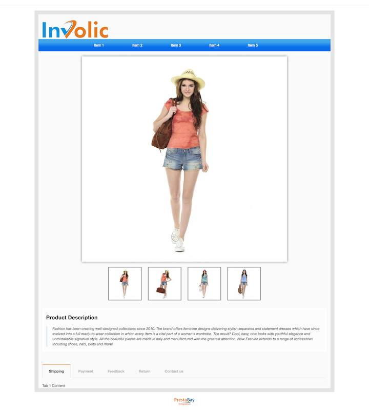 Ebay description template full width desktop view